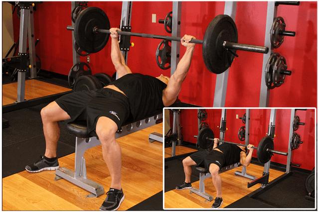 Bài tập đẩy ngực ngang tạ đòn giúp cải thiện cơ ngực hiệu quả