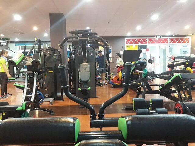 Phòng tập Gym có sự đầu tư khá tốt về hệ thống trang thiết bị, máy móc