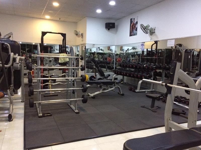 Phòng tập Homie Fitness có thiết kế khá đơn giản