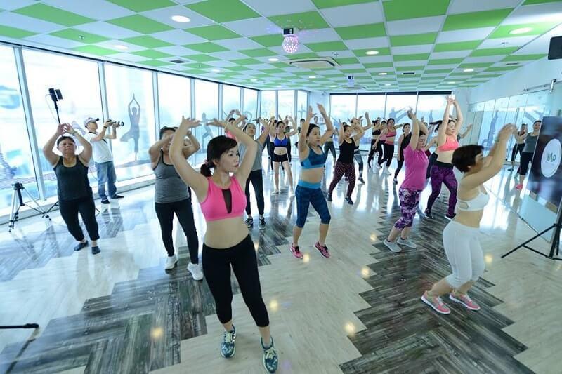 Phòng tập Yap Gym & Yoga có thiết kế khá đơn điệu