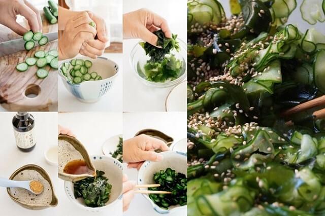 Cách làm salad rong biển trộn dưa leo giảm cân