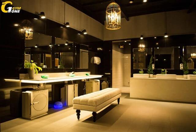 Khu tắm, nghỉ ngơi và để đồ sang trọng, hiện đại với thiết kế bắt mắt