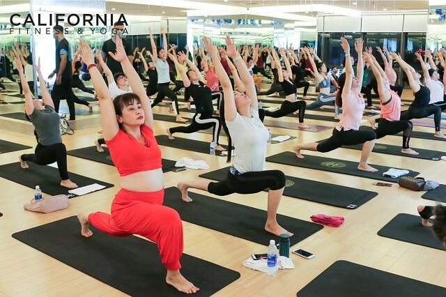 Khu vực tập luyện yoga tại Cali