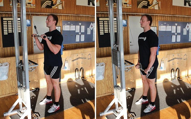 các loại máy tập gym - Máy kéo cáp tập tay