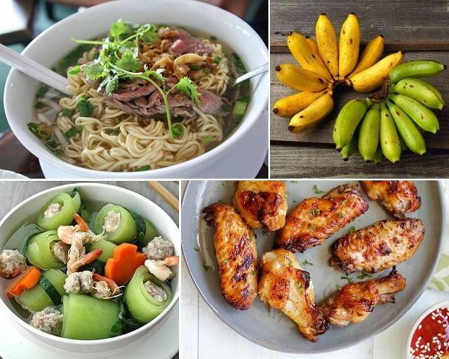Một số thực đơn đơn giản, đủ dinh dưỡng