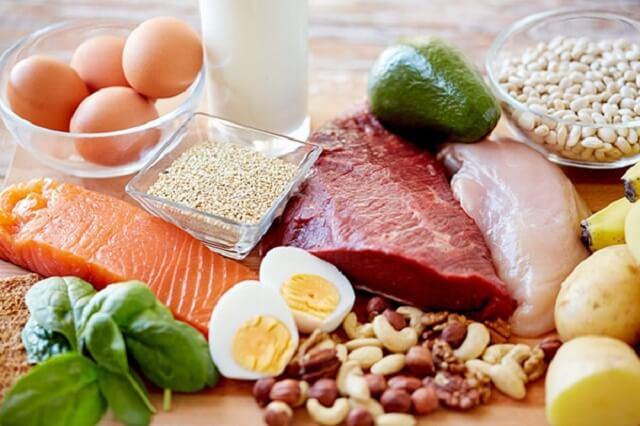 Một số thực phẩm có chứa nhiều protein cung cấp cho người tập gym tăng cân
