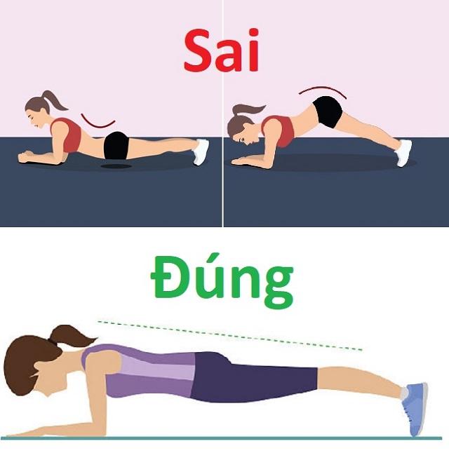 tập gym cho nữ Plank thế nào là đúng?