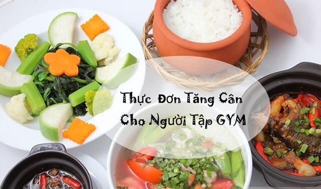 Thực đơn chế độ ăn cho người tập gym tăng cân hiệu quả