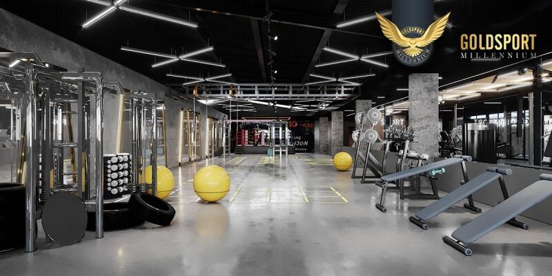 Phòng tập Gold Sport với đầy đủ tiện ích