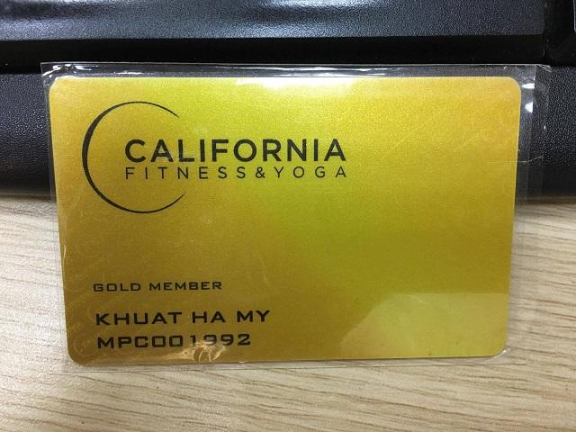 Thẻ Gold tại California Fitness