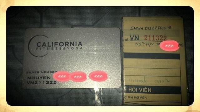 Thẻ tập Silver California Fitness
